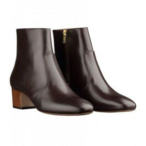 """Joey"" Calfskin Leather Ankle Boots"